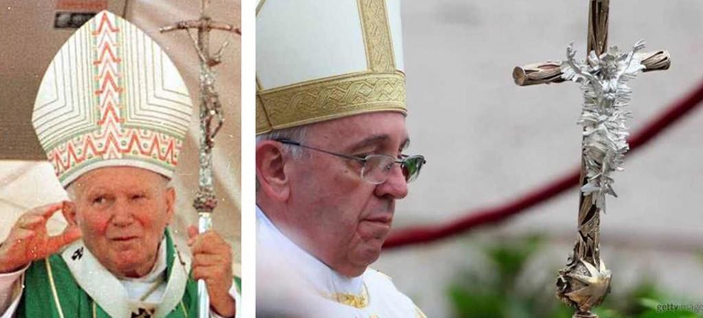 Dwa krzyże papieskie