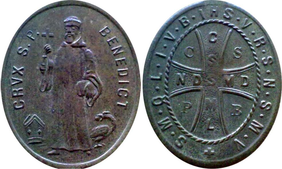 Krzyż i medalik św. Benedykta